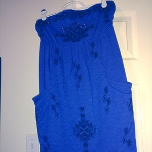 Express Dresses - Express Blue Tube top dress